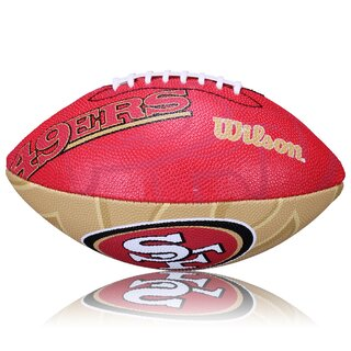 Wilson NFL Junior San Fransico 49ers Logo Football