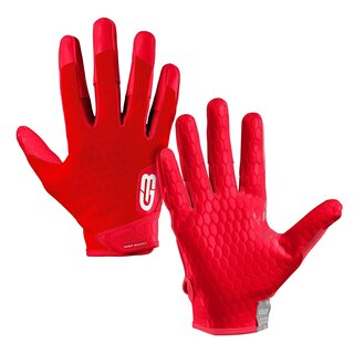 Grip Boost DNA American Football Receiver Handschuhe, Engineered Grip - rot L