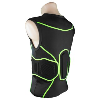 Full Force Shocc Lite 3 Pad Shirt mit Rippenpolsterung - Gr. S