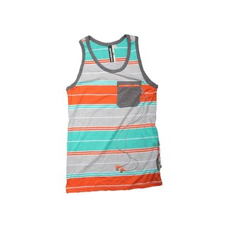 Lässiges Tank Top - orange/grau Gr. L