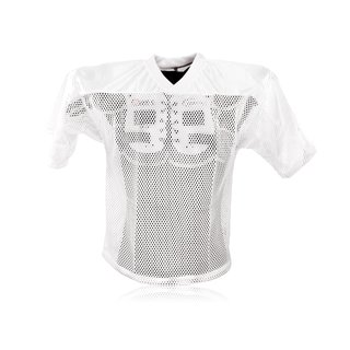 Full Force American Football einfaches Trainingsshirt - weiß Gr. 3XL/4XL