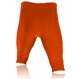 Full Force American Football Game pants Lycra Stretch - orange Gr. S