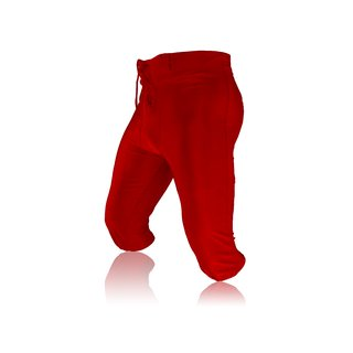 Full Force American Football Game pants Lycra Stretch - rot Gr. L