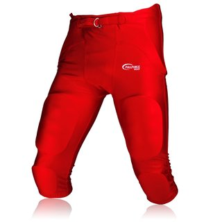 Full Force American Footballhose Crusher 7 Pocket Pad All in One Gamepant - rot Gr. M