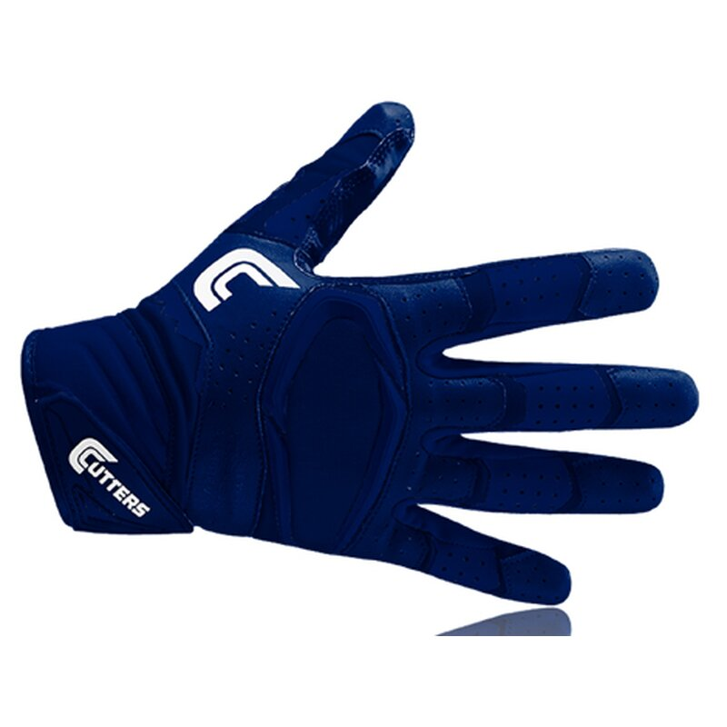 Cutters S451 REV PRO 2.0 American Football Receiver Handschuh, Solid navy 2XL