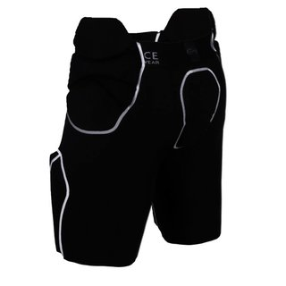Full Force American Football Herren Hose 5 Pocket mit 5 eingenähten Pads - schwarz Gr. M