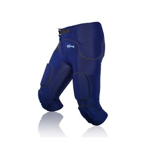 Full Force American Football Gamehose Stretch mit integrierten 7 Pocket Pad All in One - navy Gr. XL