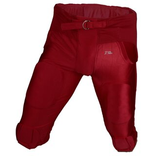 Active Athletics American Football Hose 7 Pad All in One Gamepants - rot Gr. S