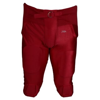 Active Athletics American Football Hose 7 Pad All in One Gamepants - rot Gr. L