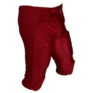 Active Athletics American Football Hose 7 Pad All in One Gamepants - rot Gr. 3XL
