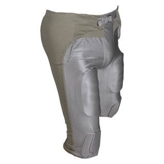 Active Athletics American Football Hose 7 Pad All in One Gamepants - silber 3XL