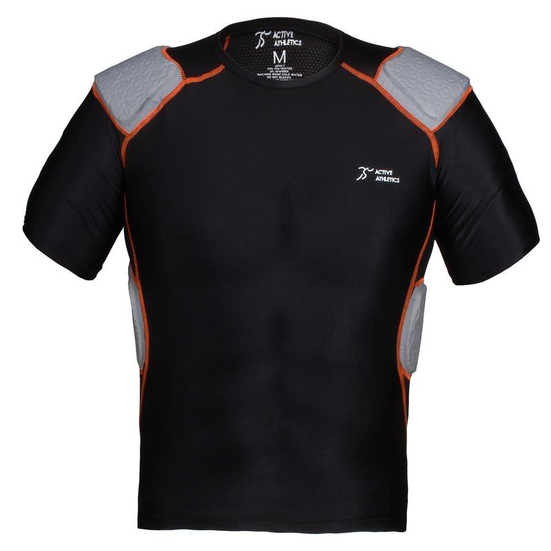 Active Athletics Five Pad Shortsleeve Football Shirt - schwarz Gr. XL