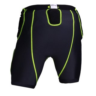Full Force American Football Unterhose Shocc Lite 5 Pocket Pad - schwarz/neongrün Gr. XL