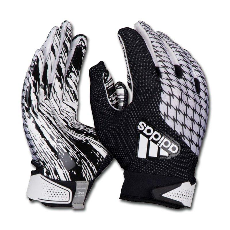 adidas adiFAST 2.0 Receiver American Football Handschuhe - weiß/schwarz Gr. S