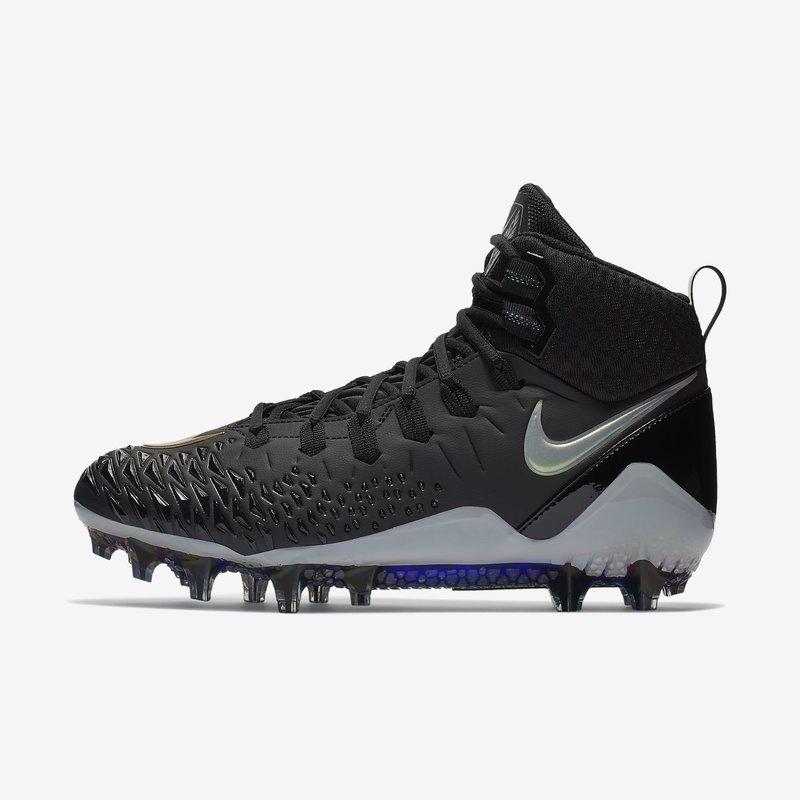Nike Force Savage Pro American Football Rasenschuhe - schwarz/silber Gr. 11 US