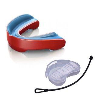 Shock Doctor Gel Nano 6420Y Mundschutz mit Strap und Mundschutzdose - pearl red Gr. Junior