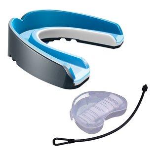 Shock Doctor Nano 3D 6501Y Ultimate Self-Fit Mundschutz mit Strap und Mundschutzdose - pearl carbon Gr. Junior