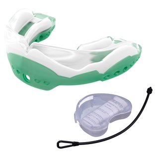 Shock Doctor Ultra 2 STC 7514Y Mundschutz mit Strap und Mundschutzdose - grün Gr. Junior