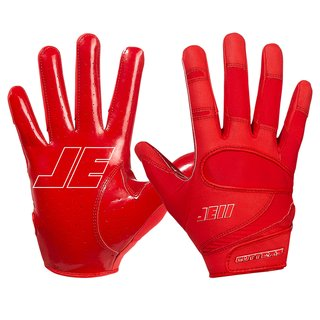 Cutters JE11 Signature Series ungepolsterte Football Handschuhe - rot Gr. L