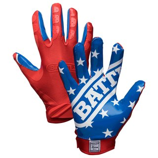 BATTLE American Flag Football Receiver Handschuhe - Gr. M