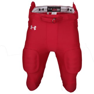 Under Armour 7 Pad All in one Integrated Pant, Footballhose - rot Gr. M