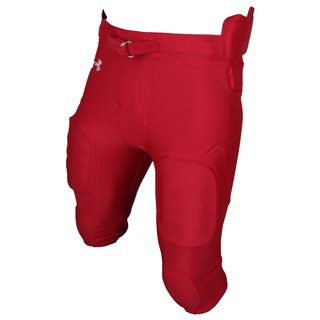 Under Armour 7 Pad All in one Integrated Pant, Footballhose - rot Gr. 2XL