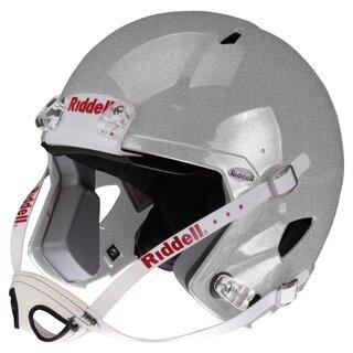 Riddell Victor-i Jugend Helm bis 15 Jahre (ohne Facemask), Größe L/XL - silber