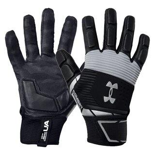 Under Armour Combat gepolsterte Lineman Handschuhe Design 2020 - schwarz/grau Gr. L