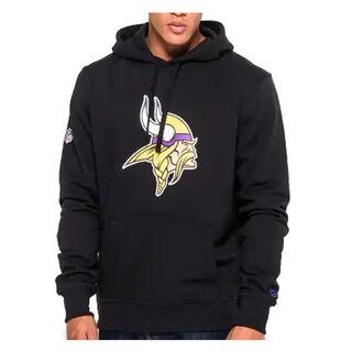 New Era NFL Team Logo Hood Minnesota Vikings schwarz - Gr. XL
