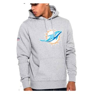 New Era NFL Team Logo Hood Miami Dolphins grau - Gr. XL