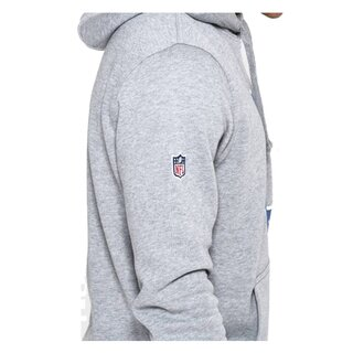 New Era NFL Team Logo Hoodie Indianapolis Colts grau - Gr. S