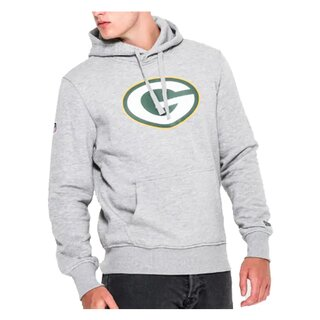 New Era NFL Team Logo Hoodie Green Bay Packers grau - Gr. S