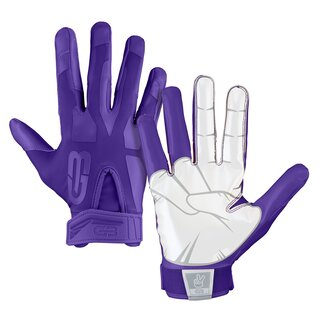 Grip Boost Peace American Football Receiver Handschuhe - lila Gr. S