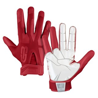 Grip Boost Peace American Football Receiver Handschuhe - rot Gr. M