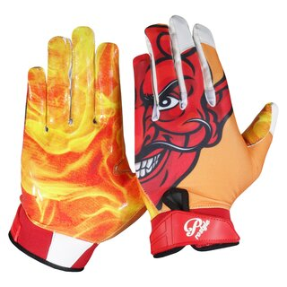 Prostyle Teufel American Football Receiver Handschuhe - Gr. S