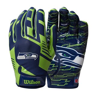 Wilson NFL Stretch Fit Youth Receiver Handschuhe Team Seattle Seahawks