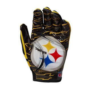 Wilson NFL Stretch Fit Youth Receiver Handschuhe Team Pittsburgh Steelers