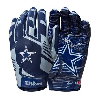 Wilson NFL Stretch Fit Youth Receiver Handschuhe Team Dallas Cowboys